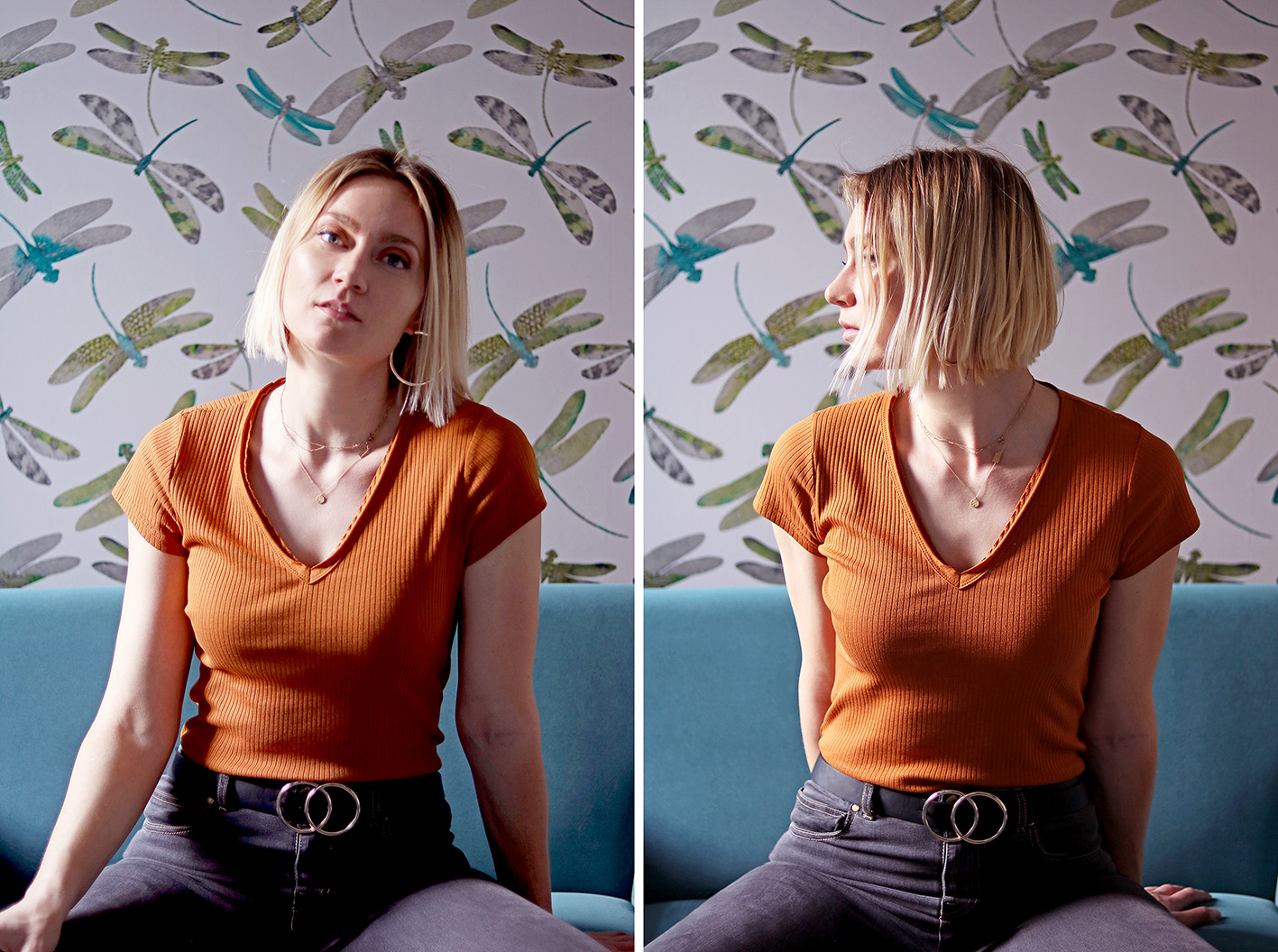 joli tee-shirt couleur rouille blog mode artlex
