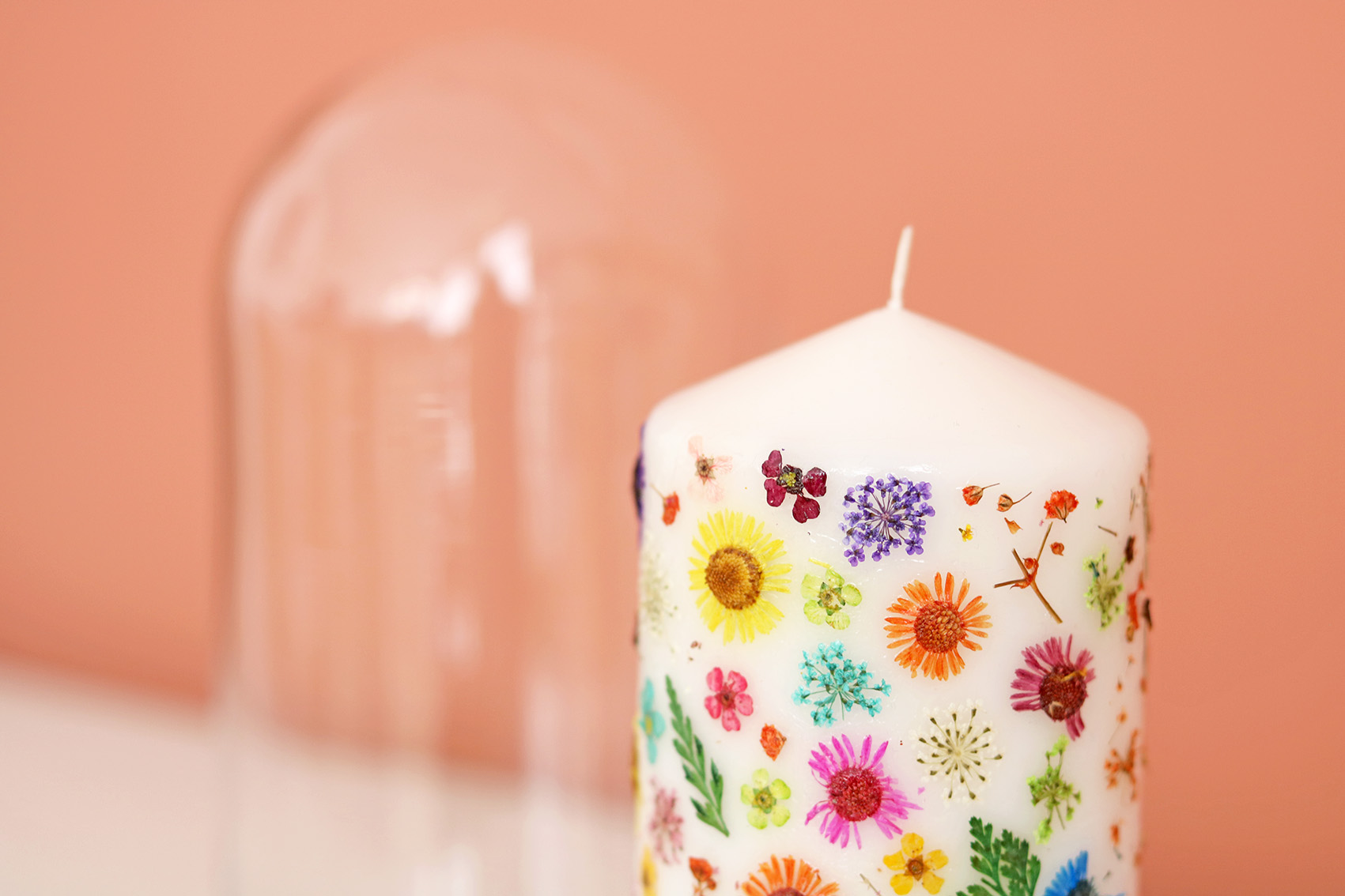 DIY bougies fleurs séchées