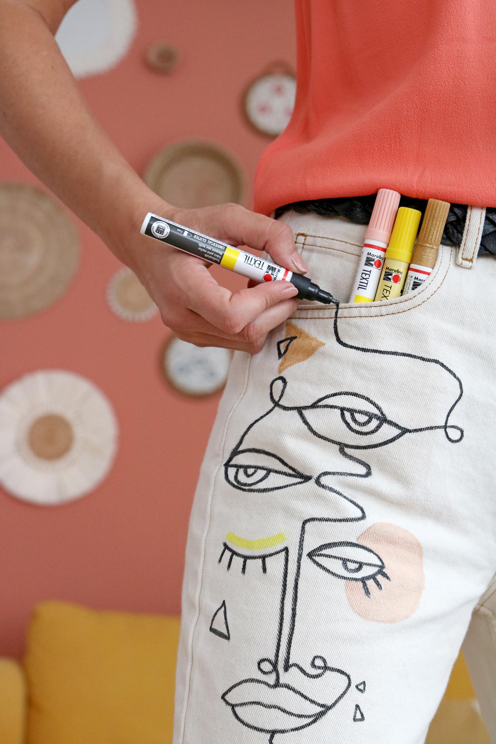 comment-customiser-jeans-avec-feutre-textile