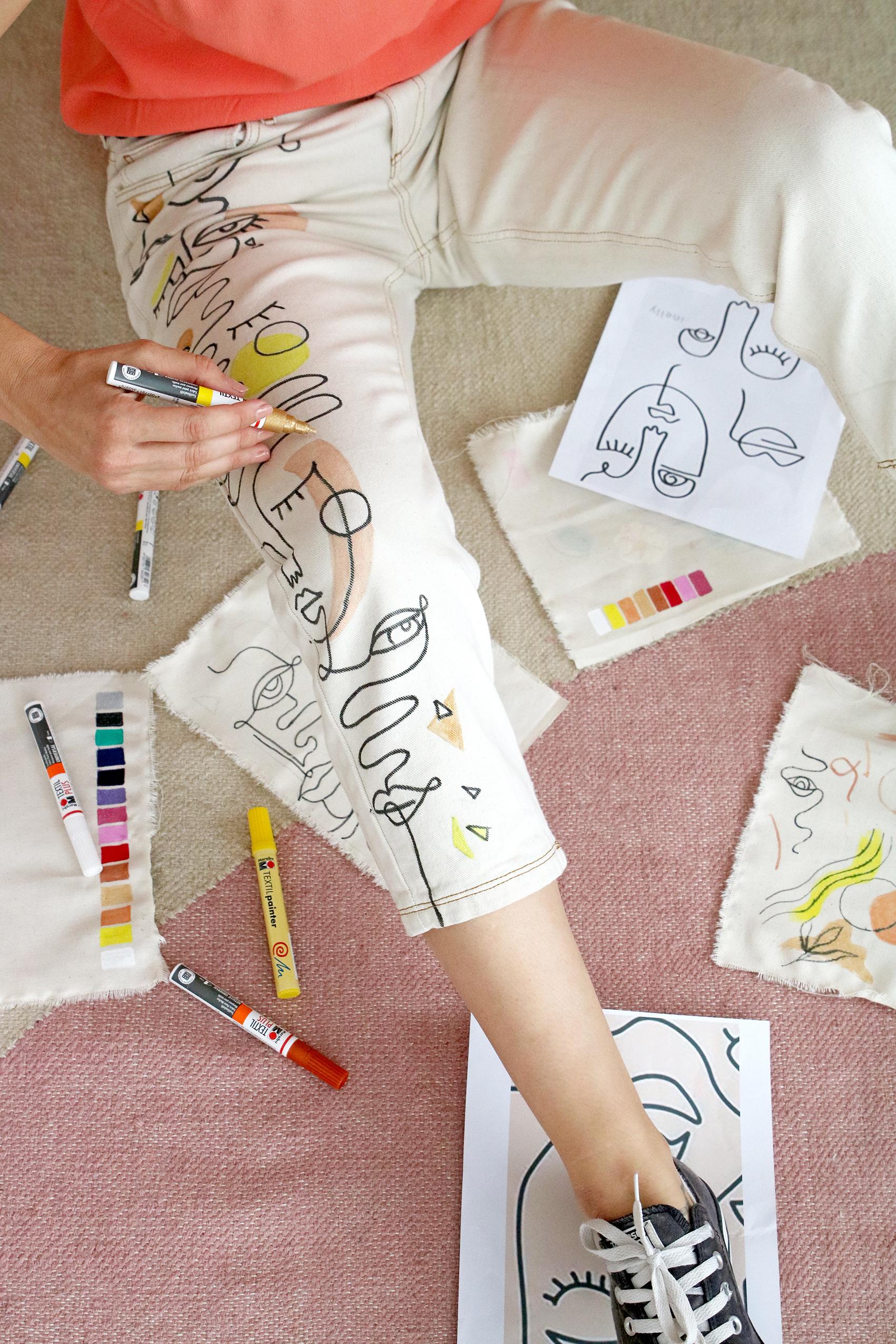 inspiration-pour-jeans-customise-avec-feutre-textile